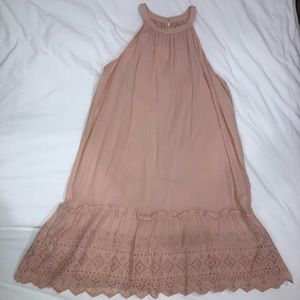 LOFT Pink Eyelet Dress